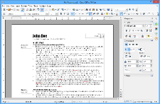 Screendump of Apache OpenOffice Writer